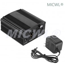 48V Phantom Power Supply For Condenser Recording Microphone XLR 3Pin input and output