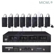 MICWL 2018 DJ Karaoke Sing Wireless 8 Bodypack with Lavalier Microphones System VHF fixed-frequency