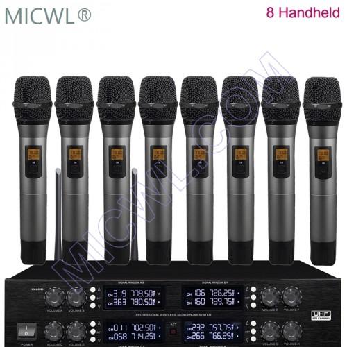 MICWL Professional UHF 400 Channel Wireless 8 Handheld DJ
