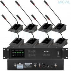 MiCWL 18 Gooseneck Cardioid Wireless Microphone Conference System Meeting Desk Mic A10M-A116