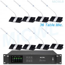 MiCWL 1 President and 35 Delegate 36 Desktop Wireless Gooseneck Conference Microphone System A10M-A103