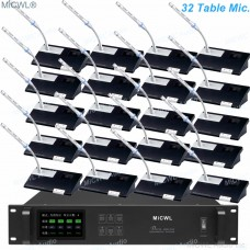 MiCWL Digital Wireless Gooseneck Microphone Conference Audio Meeting Room System President Delegate A10M-A102