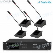 MiCWL 4 Gooseneck Table Wireless Conference Microphone System for Meeting Room A10M-A116