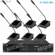 MiCWL 6 Gooseneck Table Wireless Conference Microphone System for Meeting Room A10M-A116