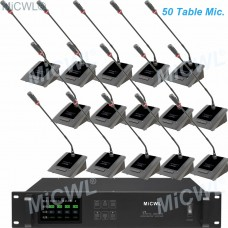 MiCWL 50pcs Table Gooseneck Meeting Room Mic Wireless Conference Microphone System A10M-A116