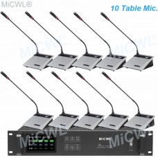 MiCWL 10 Desktop Wireless Gooseneck Conference Microphone Meeting Room System A10M-A117