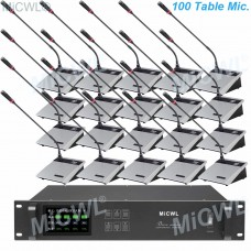 MiCWL 100 Unit Desktop Wireless Gooseneck Conference Microphone Meeting Room System A10M-A117