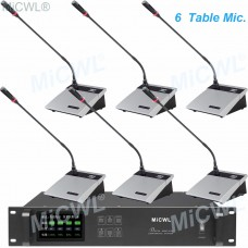 6 Desktop Meeting Room Wireless Gooseneck Conference Microphone System A10M-A117