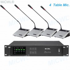 4 Desktop Wireless Gooseneck Conference Microphone Meeting Room System A10M-A117