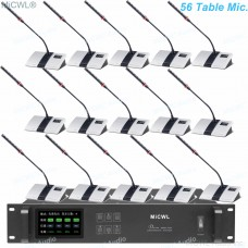 Genuine MiCWL 56 Table Wireless Gooseneck Conference Microphone Meeting System A10M-A103