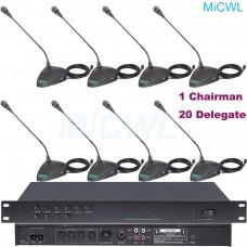 A350M-A06 Built-in speaker Desktop Conference Microphones System 1 President 20 Delegate Table Unit MiCWL