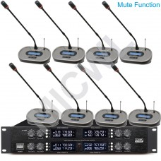 "MICWL BU3828 400 Channel UHF Adjustable Fequencies Wireless Microphone System 2U 19"" Rack - with Mute function"