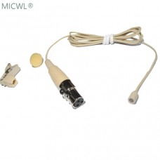 Beige L320-3P Lapel Lavalier Clip Omi-directional Microphone For AKG Samson Gimini Bodypack Transmitter