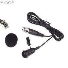 New ME4-3P Lavalier Lapel Cardioid directivity clip Condenser Microphones For AKG Samson Gemini Wireless Bodypack Transmitter