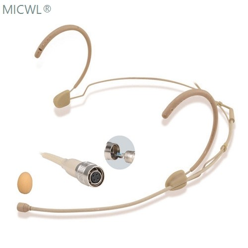 beige bm28 omni directivity headset microphone mic for audio technica wireless hirose 4pin. Black Bedroom Furniture Sets. Home Design Ideas