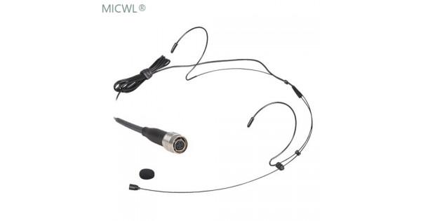 black dual ear hook head worn headset microphone mic for audio