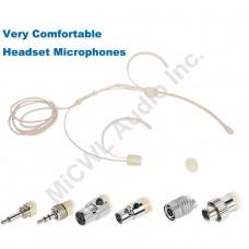 MiCWL OM62 Double ear Wearing Headset Condenser Microphone Mic for Shure Sennheiser AKG Audio Technica Wireless BodyPack Transmitter