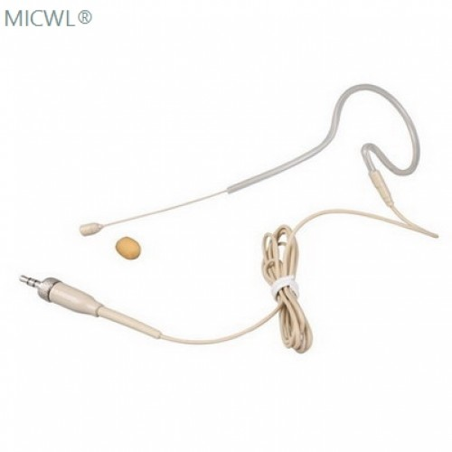 beige single ear hook headset microphone for sennheiser g1 g2 g3