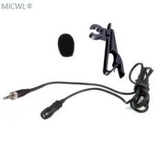 MiCWL T60 Lavalier Lapel Microphone For Shure Sennheiser AKG Audio-Technica Wireelss Beltpack Transmitter