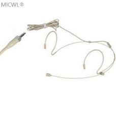 Beige Dual ear Hook Headset Microphone For Sennheiser G1 G2 G3