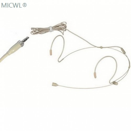 beige dual ear hook headset microphone for sennheiser g1 g2 g3