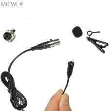 Mini ME2 Lavalier Lapel Tie Clip Condenser Microphone Mic For Shure Wireless Transmitter