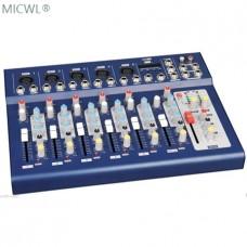 7 Channel Live Mixer USB DJ Karaoke Mixer Mixing Console with 5 XLR Bal Mic 48V