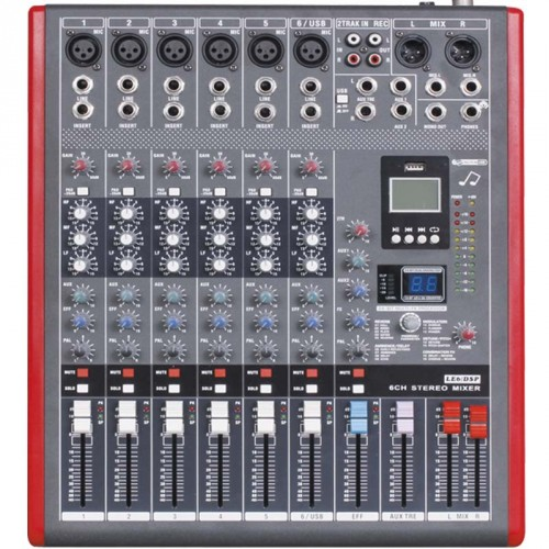 professional 6 channel usb mixing console studio audio mixers mixer multi fx processor 99