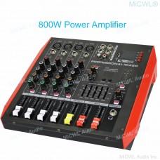 New Generation 800W Bluetooth Audio Mixer Mixing Console 4 Channel Sound Karaoke Music Live 2 Channel Power Amplifier Mixer P402D