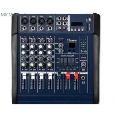 Professional PMX4 4 Channel Stage Karaoke Live Mixing console 800W Power Amplifier Mixer
