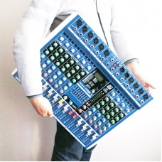 MICWL ER10 Bluetooth Live Studio Audio Mixer Mixing Console 24DSP Built-in Effects 48V USB