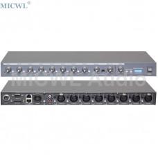 MICWL R2820 Brand New Eight Channel Sound Mixer for Conference Desktop Table Gooseneck Conference System Provide 48V Phantom