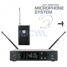 MICWL D100 UHF Single Channel Wireless Microphone System Handheld Beltpack