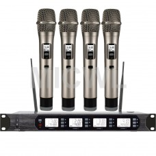 MICWL D400 400 Channel Handheld Wireless Radio Microphone System Stage Performance - White LED light